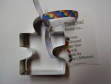 """Flat Puzzle Piece Cookie Cutter 3.5"""" Autism Awareness"""