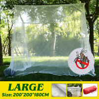 Large White Camping Mosquito Net Indoor Outdoor Netting Storage Bag Insect  ~