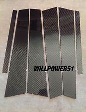6 PC 2X2 CARBON FIBER PILLAR PANELS FOR 94-00 BENZ W202 C-CLASS C43 C36 C230