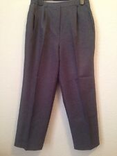 Classics Size 18 Grey Polyester Pleated Trousers <BC445