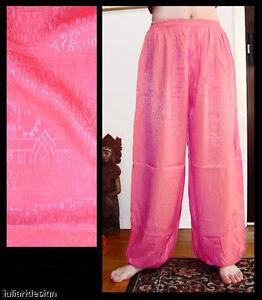 Harem Pants Belly Dance Hot Pink Sparkle