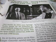 Das war die DDR Kultur Film TV For eyes only DEFA 1963