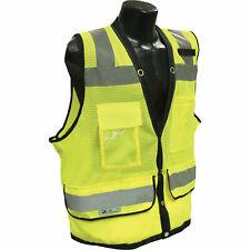 Radians RadWear Men's Class 2 Hi-Vis Heavy-Duty Surveyor Safety Vest Lime Small