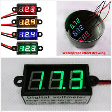 "1X Automotive Three 0.56 LED Digital Tube Micro 0.56""Digital Voltmeter Green LED"