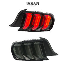 VLAND 5 Model LED Tail Lights For Ford Mustang 2015-2019 Smoked Assembly