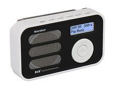 Karcher DAB 2410-W tragbares DAB+ Digitalradio Wecker Radio digital Akku weiß