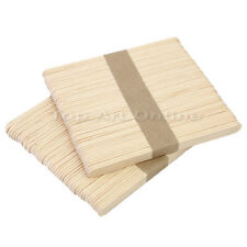 100 Pcs Disposable Wax Waxing Wooden Body Hair Removal Stick Applicator Spatula