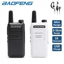 2x Baofeng BF-R5 Walkie Talkies Long Range VOX Two Way Ham Radio + 888S Earpiece