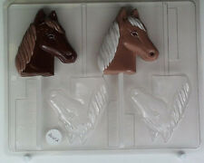 HORSE HEAD LOLLIPOP CLEAR PLASTIC CHOCOLATE CANDY MOLD AO102