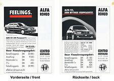 Alfa Romeo 33 S QV Permanent 4 + 155 1.8 T.Spark  Preisliste 1992 price list Pkw