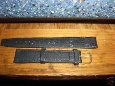 Genuine Leather Black Watch Strap 16mm