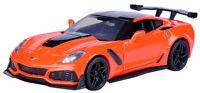 Motor Max 2019 Corvette ZR1 orangerot 1: 24 m/o Wunschkennzeichen