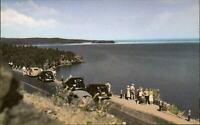 Lake Superior from Silver Creek Cliff ~ Two Harbors Minnesota MN  1950s postcard