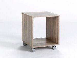 Beistelltisch Tisch Blumentisch Sonoma Eiche 1 Fach 36x40cm Rollwagen