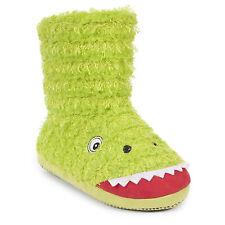 Trespass Boys Slipper Boots Kids Monster Warm Slippers