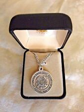 """UNITED STATES COAST GUARD  MEDAL Stainless S 24"""" chain Gift box by CREED NEW"""