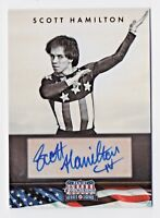 2012 Americana Heroes and Legends #112 Scott Hamilton Skating Autograph 116/299