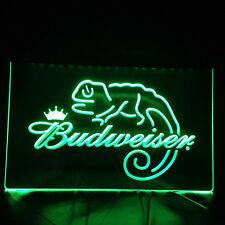 Budweiser Lizard Frank Neon Sign Bar Pub Man Cave Etc UK STOCK