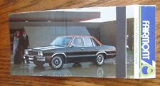 1978 FORD FAIRMONT CAR MODEL: OAKVILLE, ONTARIO -JL9