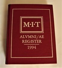 MIT Alumni Register 1994 Living, Dead, Some with email, Geographical,1,691 pages