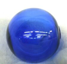 "Japanese Glass Fishing Float Cobalt Blue 15"" Around Middle Vintage Marine Decor"