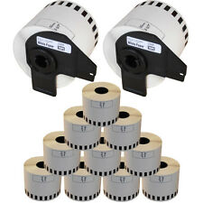 10 2 Roll Dk22205 DK 22205 Brother Compatible Continuous Labels 62mm X 30.48m