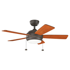 "Kichler 330171OZ - Olde Bronze 42"" Indoor LED Ceiling Fan with Blades, Light Kit"