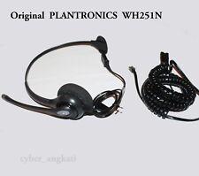 Plantronics SupraPlus HW251N Black Headband Headsets WITH U10P-S  A10 Cord Cable