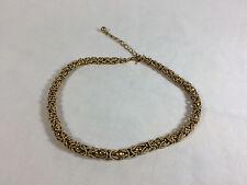 Vintage TRIFARI Gold Colored Choker Necklace