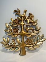 Vintage Syroco Gold Wall Decor / Wall Hanging Tree of Life #4770B 1963