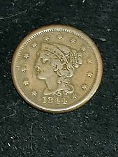 1844 Large Cent Braided Hair