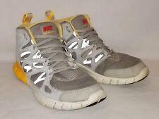 Mens Sz 9 Nike Free Run 2 Mid Sneakerboot Running Gray Orange White 616744-002