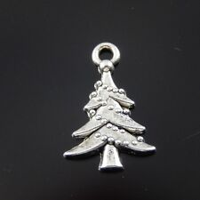 20X Vintage Style Antiqued Silver Tone 17*14*2mm Pine Pendant Charms Findings
