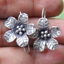 Fashion Thai Karen Flower Earring Pure Silver