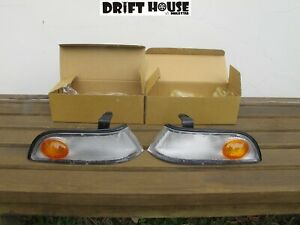 Cefiro A31 Corner Signal Lights Aftermarket New JDM Pair Set Taiwan 1988 - 1994