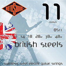 Rotosound BS11 British Steels Medium Stainless Electric Guitar Strings 11-48