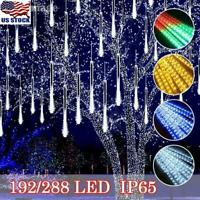 LED Meteor Shower Lights Falling Rain Icicle Garden Christmas Outdoor Decoration
