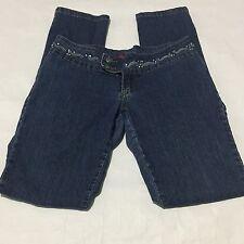 Gasoline Womens Denim Jeans Size 6 W30 L 32 Straight Leg Decorative Waist