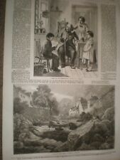 From Our Own Correspondent by Hemsley & Lynmouth by Holland 1856 prints ref AT