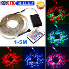 1M-5M LED Strip Lights 5V 3528 RGB Dimmable TV Back Lighting with Remote Control