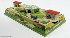 FISCHER? Blech Spielzeug Busse Bahn Rundkurs Tankstelle + Tunnel 30er Vorkrieg