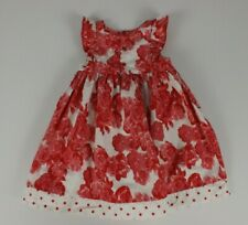 DPumpkin Patch Size 12-18 Months Dress Red White Floral Full Cotton Party