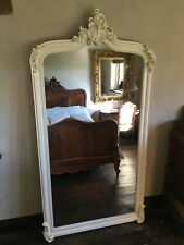ANNECY ANTIQUE WHITE ORNATE FRENCH SWEPT DRESS WEDDING  WOOD LEANER MIRROR 6FT
