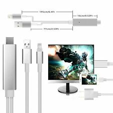 2M Dock to HDMI HDTV TV ADAPTER USB CABLE For iPad 5 iPhone 6 6S 5 5S  Plug Play