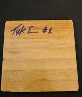 TYREKE EVANS SIGNED NBA HARDWOOD FLOORBOARD KINGS MEMPHIS C W/COA+PROOF RARE WOW