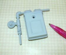 """Miniature """"Town Square"""" Grey Gas Meter for DOLLHOUSE Exterior 1:12"""