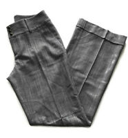 Banana Republic Womens Size 8 Martin Fit Pants Stretch Wool Blend Gray Cuffed