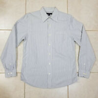 Banana Republic Button Up Long Sleeve Shirt Slim Fit Casual White Gray Men Small