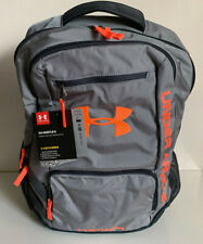 NEW! UNDER ARMOUR GRAY UA HUSTLE II STORM LAPTOP FRIENDLY TRAVEL SCHOOL BACKPACK