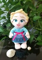 "Disney Parks Disney's Babies Frozen Princess Elsa Baby Plush Doll 12"""